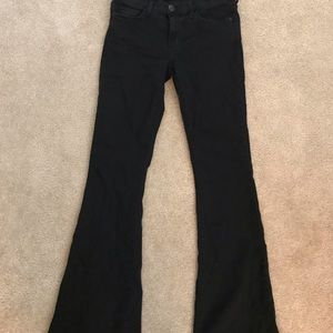 Free people flared black jeans